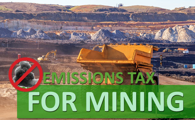 Emissions Tax for Mining